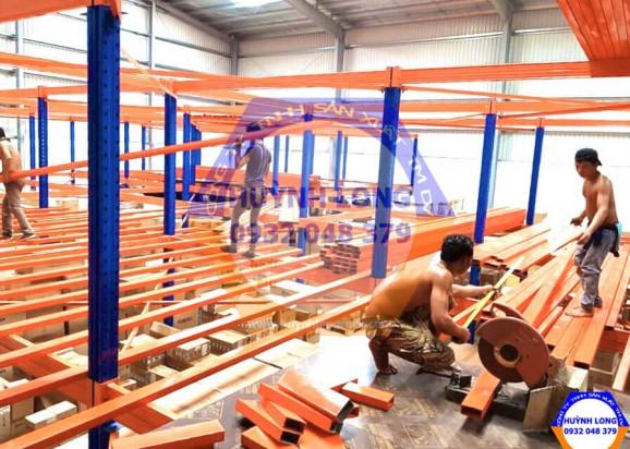 Công trình lắp đặt kệ thép tại Long Thành Đồng Nai